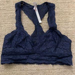 Free People Lace halter bra